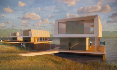 Concrete Valley and Grimshaw are developing an innovative system of modular water homes